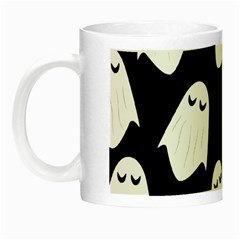 Ghost Halloween Pattern Night Luminous Mugs by Amaryn4rt