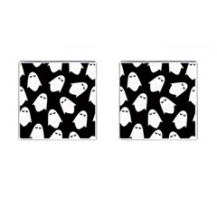 Ghost Halloween Pattern Cufflinks (square) by Amaryn4rt