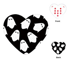 Ghost Halloween Pattern Playing Cards (heart)  by Amaryn4rt