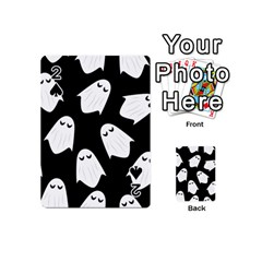 Ghost Halloween Pattern Playing Cards 54 (mini)  by Amaryn4rt