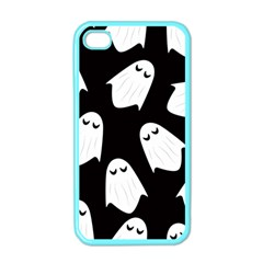 Ghost Halloween Pattern Apple Iphone 4 Case (color) by Amaryn4rt