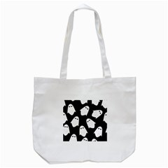 Ghost Halloween Pattern Tote Bag (white) by Amaryn4rt