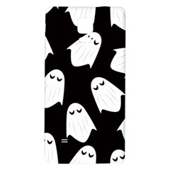 Ghost Halloween Pattern Galaxy Note 4 Back Case by Amaryn4rt