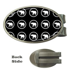 Elephant Wallpaper Pattern Money Clips (oval)