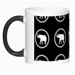 Elephant Wallpaper Pattern Morph Mugs by Amaryn4rt