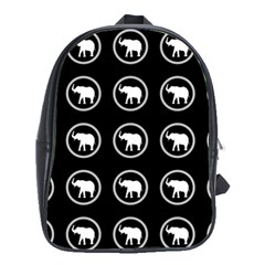 Elephant Wallpaper Pattern School Bags (xl)  by Amaryn4rt