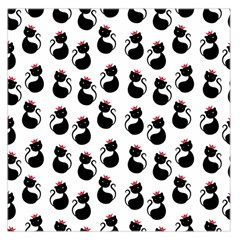 Cat Seamless Animal Pattern Large Satin Scarf (Square) by Amaryn4rt