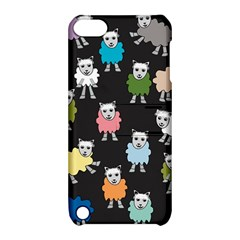Sheep Cartoon Colorful Apple Ipod Touch 5 Hardshell Case With Stand by Amaryn4rt