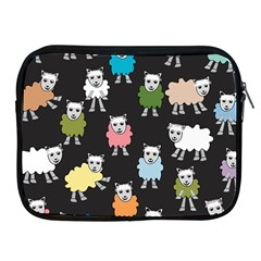 Sheep Cartoon Colorful Apple Ipad 2/3/4 Zipper Cases