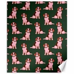 Dog Animal Pattern Canvas 8  X 10  by Amaryn4rt