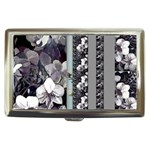 Black & White Orchid Multi Stripes Poppie Single Cigarette Money Case