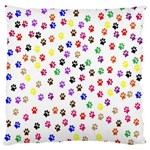 Paw Prints Background Large Flano Cushion Case (Two Sides) Back