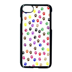 Paw Prints Background Apple Iphone 7 Seamless Case (black) by Amaryn4rt