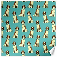 Dog Animal Pattern Canvas 12  X 12