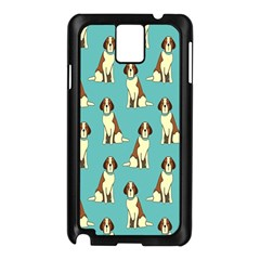 Dog Animal Pattern Samsung Galaxy Note 3 N9005 Case (black) by Amaryn4rt