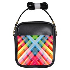 Graphics Colorful Colors Wallpaper Graphic Design Girls Sling Bags by Amaryn4rt