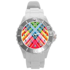 Graphics Colorful Colors Wallpaper Graphic Design Round Plastic Sport Watch (l) by Amaryn4rt