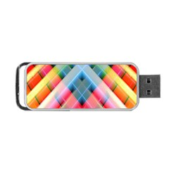 Graphics Colorful Colors Wallpaper Graphic Design Portable Usb Flash (one Side) by Amaryn4rt