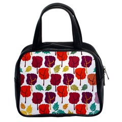 Tree Pattern Background Classic Handbags (2 Sides) by Amaryn4rt