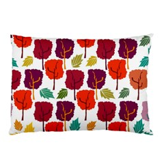 Tree Pattern Background Pillow Case by Amaryn4rt