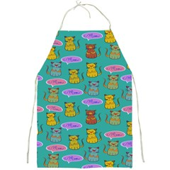 Meow Cat Pattern Full Print Aprons by Amaryn4rt