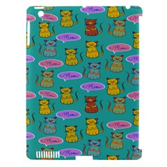 Meow Cat Pattern Apple Ipad 3/4 Hardshell Case (compatible With Smart Cover) by Amaryn4rt