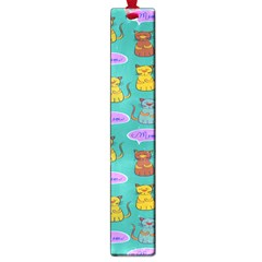 Meow Cat Pattern Large Book Marks by Amaryn4rt