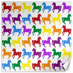 Colorful Horse Background Wallpaper Canvas 16  x 16   by Amaryn4rt