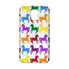 Colorful Horse Background Wallpaper Samsung Galaxy S5 Hardshell Case  by Amaryn4rt