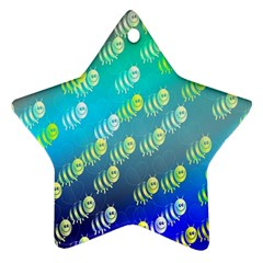 Animal Nature Cartoon Wild Wildlife Wild Life Star Ornament (two Sides)