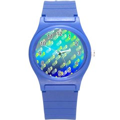 Animal Nature Cartoon Wild Wildlife Wild Life Round Plastic Sport Watch (s) by Amaryn4rt