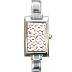 Pattern Birds Cute Design Nature Rectangle Italian Charm Watch by Amaryn4rt