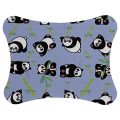 Panda Tile Cute Pattern Blue Jigsaw Puzzle Photo Stand (bow) by Amaryn4rt
