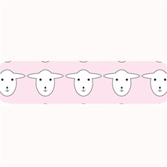 Sheep Wallpaper Pattern Pink Large Bar Mats by Amaryn4rt