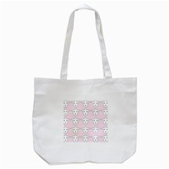 Sheep Wallpaper Pattern Pink Tote Bag (white)
