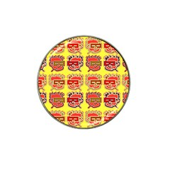 Funny Faces Hat Clip Ball Marker by Amaryn4rt