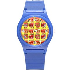 Funny Faces Round Plastic Sport Watch (s) by Amaryn4rt