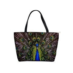 Bird Peacock Display Full Elegant Plumage Shoulder Handbags by Amaryn4rt