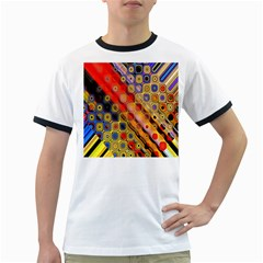 Background Texture Pattern Ringer T Shirts