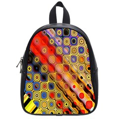 Background Texture Pattern School Bags (small)  by Amaryn4rt