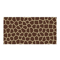 Leather Giraffe Skin Animals Brown Satin Wrap by Alisyart