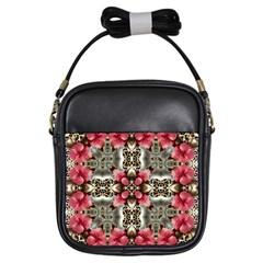 Flowers Fabric Girls Sling Bags by Amaryn4rt