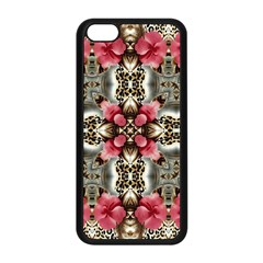 Flowers Fabric Apple Iphone 5c Seamless Case (black)