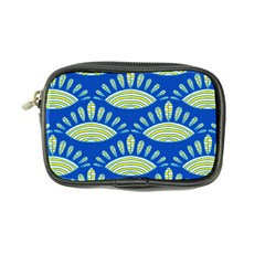 Sea Shells Blue Yellow Coin Purse by Alisyart
