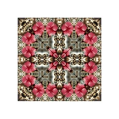 Flowers Fabric Acrylic Tangram Puzzle (4  X 4 ) by Amaryn4rt