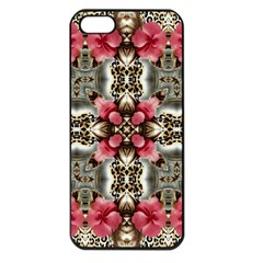 Flowers Fabric Apple Iphone 5 Seamless Case (black) by Amaryn4rt