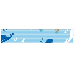 Whaling Ship Blue Sea Beach Animals Flano Scarf (large) by Alisyart
