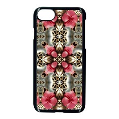 Flowers Fabric Apple iPhone 7 Seamless Case (Black) by Amaryn4rt