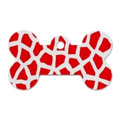 Animal Animalistic Pattern Dog Tag Bone (two Sides) by Amaryn4rt