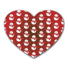 Card Cartoon Christmas Cold Heart Mousepads by Amaryn4rt